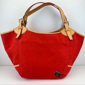 Dooney & Bourke Large Red Tote Bag Shoulder Bag